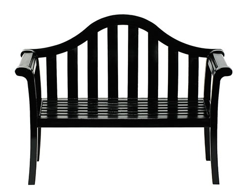 Contemporary Black Arched Porch Bench - Contemporary Garden Supplies