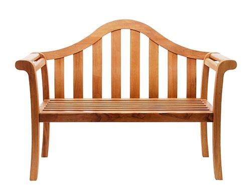 Contemporary Natural Wood Arched Porch Bench - Contemporary Garden Supplies