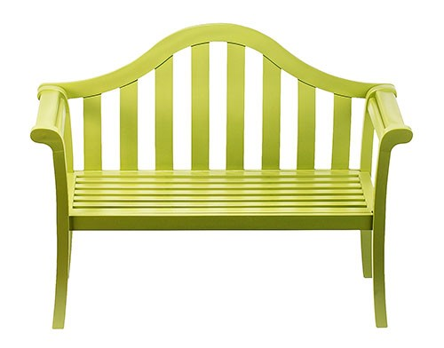 Contemporary Lime Green Arched Porch Bench - Contemporary Garden Supplies