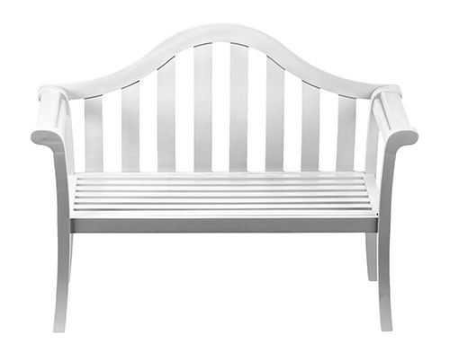 Contemporary White Arched Porch Bench - Contemporary Garden Supplies