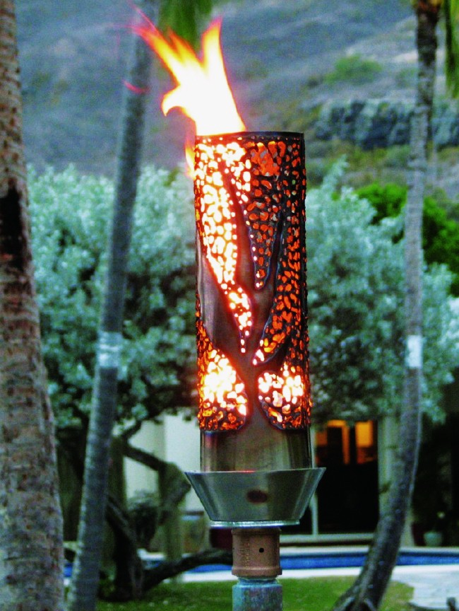 Modern Hand Crafted Paradise Tiki Torch