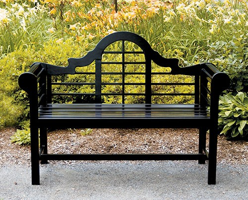 Eucalyptus White Wooden Lutyens Teak Patio Love Bench Black - Garden Supplies Web