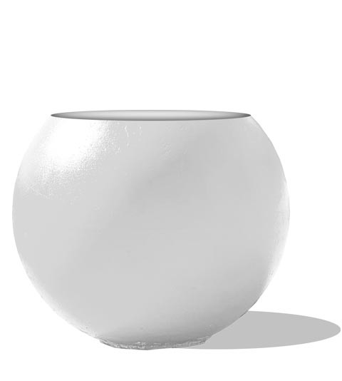 RPT Everlast Custom White Circle Sphere Planter