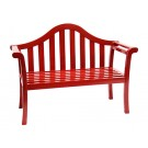 Contemporary Glossy Red Arched Porch Bench - Contemporary Garden Supplies