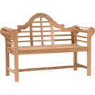 Eucalyptus Wooden Lutyens Teak Patio Love Bench - Garden Supplies Thmb