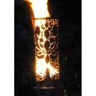 Outdoor Gas Tiki Torch - Hand Crafted Lotus Flower Tiki Torch