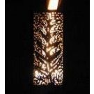 Outdoor Gas Tiki Torch - Hand Crafted Palm Leaf Tiki Torch - thumb
