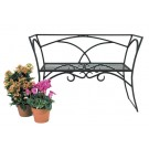 Modern Black Powdercoated Arbor Bench with Back - Garden Supplies