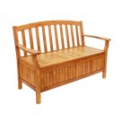 Natural Eucalyptus Wooden Storage Garden Bench - Wooden Garden Supplies
