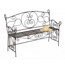 Roman Bronze Wrought Iron Garden Bench - Garden Supplies