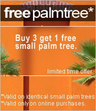 Free shipping on everything accept large palm trees.